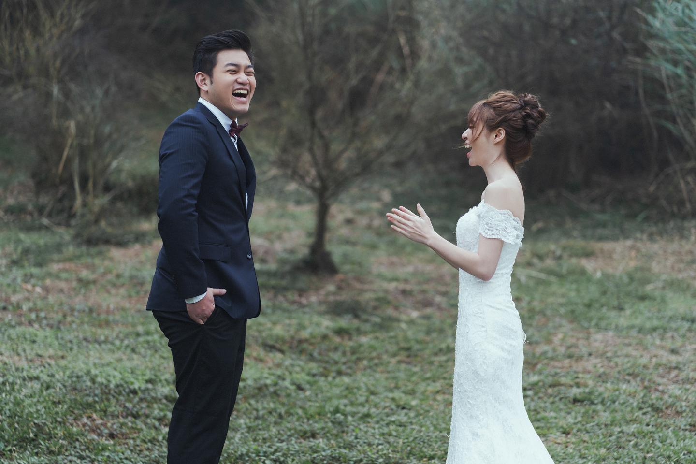 婚紗攝影 婚紗 美式婚紗 自然互動 笑容 冷水坑婚紗 陽明山婚紗 花卉試驗中心婚紗 攝影師 冬伴影像 北部_DB_9009